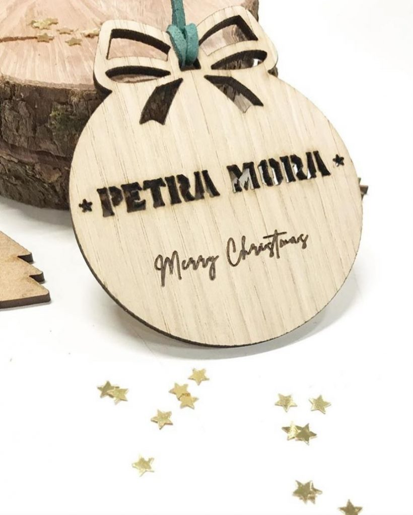 bola navidad madera