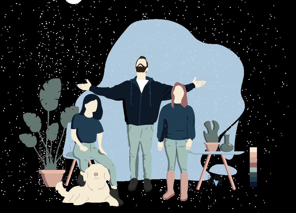 el equipo de publifive ilustrado